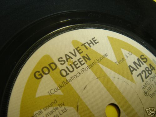 """SEX PISTOLS """"god save the queen""""  A&M label.  GENUINE"""