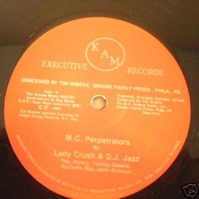 """12"""" HEAR Lady Crush D.J. Jazz KAM 4 M C Perpetratrators"""