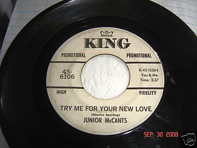 SCARCE Northern Soul 45 Junior McCants KING RARE PROMO