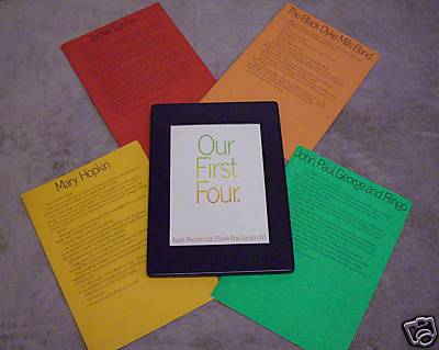 BEATLES OUR FIRST FOUR PLASTIC PROMO HEY JUDE DEMO