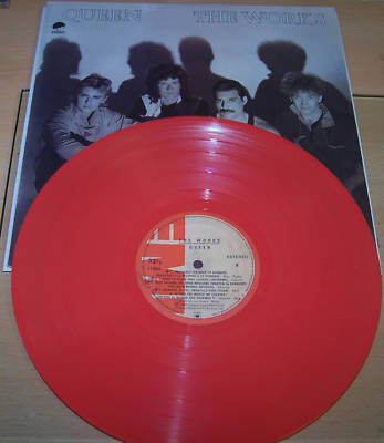 QUEEN The Works Colombian Red vinyl Impossible to find