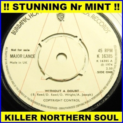 MAJOR LANCE UK 7 MOD NORTHERN SOUL DEMO Without a doubt