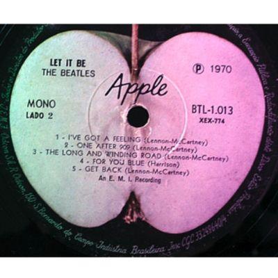 "The Beatles ""Let It Be"" MONO Brazil  LP"