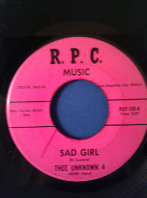 RARE SWEET SOUL/ THEE UNKNOWN 4* SAD GIRL* ON R.P.C.